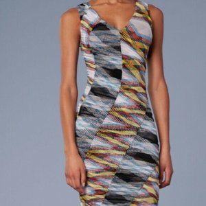NEW Diane von Furstenberg Shirred Mesh Midi Dress